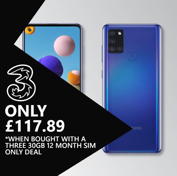 Samsung Galaxy A21s Blue Image 1
