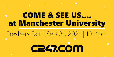 We're coming to Manchester University Freshers Fair!